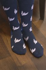 Wesleyan dove socks