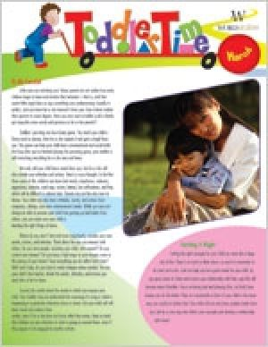 Word Action Toddler time Parent Newsletter (Spring)