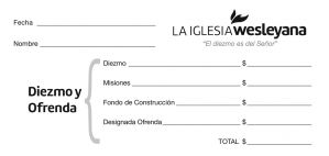 Spanish Wesleyan Tithe Envelopes - Currency Size (Pack of 100)