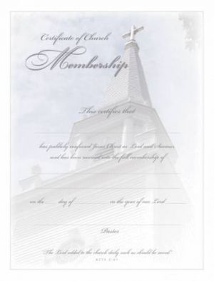 Membership Certificate, Acts 2:47 Pkg of 6