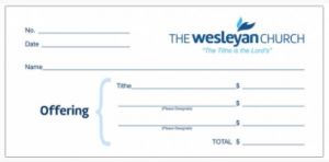 Wesleyan Tithe Envelopes - Pack of 1000  (6.25