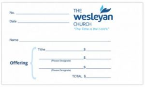 Wesleyan Tithe Envelopes - Pack of 1000  (4.25