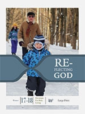 Word Action Reflecting God:  Devotions for Holy Living, Large Print (Winter)