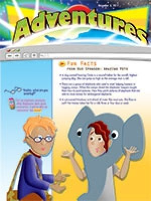 Word Action Early Elementary Adventures Take-Home Paper (Winter)