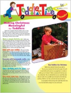 Word Action Toddler Time Parent Newsletter (Winter)