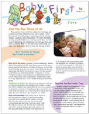 Word Action Baby's First Parent Newsletter (Summer)