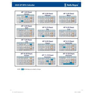2020 MFG 3 Year/AP Calendar