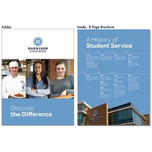Harrison College - Discover the Difference Pocket Folder Brochure