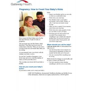 Healthwise - Pregnancy How to Count Baby's Kicks