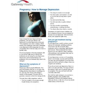 Healthwise - Pregnancy How to Manage Depression
